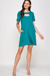 C62-A-1-WD4410 DARK JADE DRESS 2-2-2