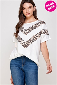 C36-A-2-WT2427X IVORY PLUS SIZE TOP 2-2-2
