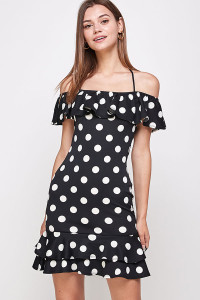 C6-A-1-WD1114 BLACK DOT DRESS 1-2-2