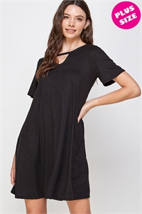 C24-A-1-WD1118X BLACK PLUS SIZE DRESS 2-2-2