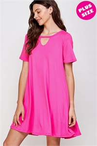 C24-A-1-WD1118X FUCHSIA PLUS SIZE DRESS 2-2-2