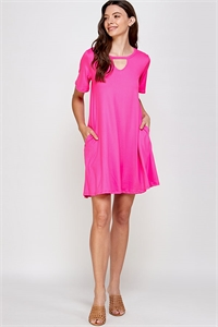 C18-A-3-WD1118 FUCHSIA DRESS 2-2-2