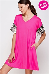 C26-A-1-WD1104CX FUCHSIA PLUS SIZE DRESS 2-2-2