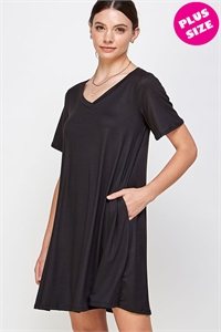 WD30-A-3-WD1117X BLACK PLUS SIZE DRESS 2-2-2
