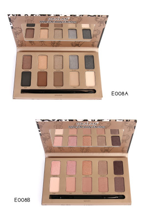 SA3-1-3-AE008AB OKALAN NATURAL EYESHADOW PALETTE/12PCS