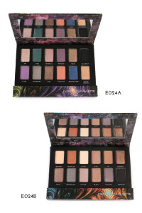197-3-4-AE024AB OKALAN 12 COLOR EYESHADOW PALETTE/6PCS