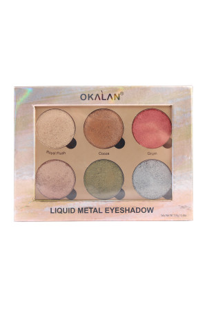 SA3-1-3-AE032A-OKALAN LIQUID METAL EYESHADOW-A/12PCS