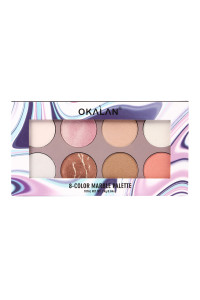 SA3-2-2-AE052 OKALAN 8 COLOR MARBLE EYESHADOW PALETTE/12PCS