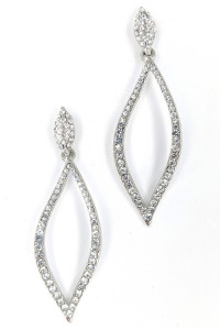 S1-1-2-LBE2130 SILVER RHINESTONE FASHION EARRINGS/3PAIRS
