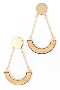 S1-2-3-LBE2201 GOLD TEAR DROP FASHION EARRINGS/3PAIRS