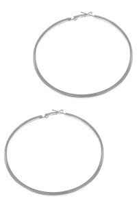 S1-6-4-LBE2341 SILVER HOOP FASHION EARRINGS/6PAIRS