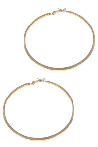 S1-6-4-LBE2341GD GOLD HOOP FASHION EARRINGS/6PAIRS