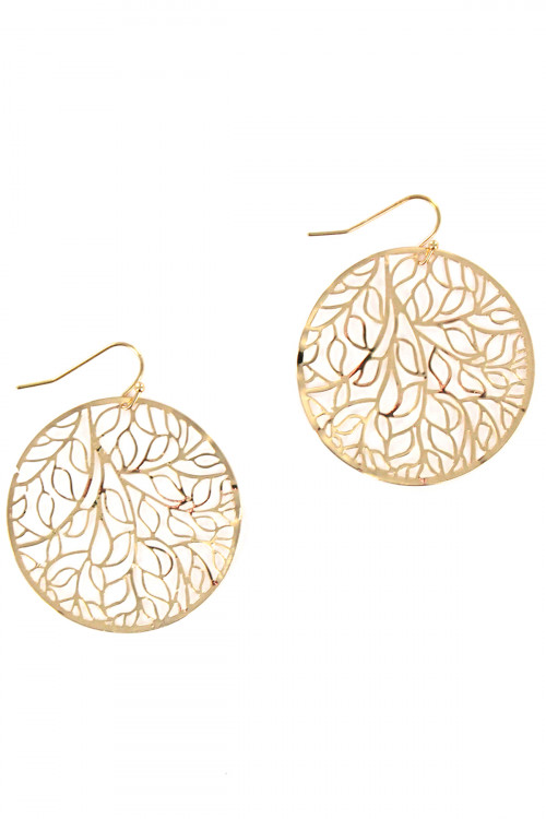 S1-2-3-LBE7458GD GOLD GIVING TREE FASHION EARRINGS/3PAIRS