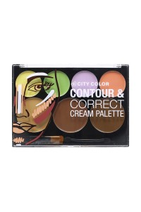 S6-6-3-AF0025-G-0086 City Color Contour & Correct Cream Palette/6PCS