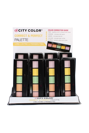 S6-4-1-AF0050 CITY COLOR CORRECT & PERFECT PALETTE/24PCS
