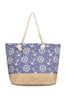 S28-8-5-FC0079-3-ANCHOR PRINT TOTE BAG #3/6PCS