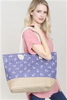 S28-8-5-FC0079-5 ANCHOR PRINT TOTE BAG/6PCS
