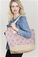 S28-8-5-FC0079-6 ANCHOR PRINT TOTE BAG/6PCS