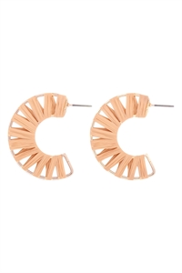 S1-5-4-GSE2186DBEG - C SHAPE WRAP EARRINGS - DARK BEIGE/6PCS