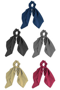 S1-5-3-LBH378 ASSORTED MULTICOLOR SCARF SCRUNCHIES/12PCS