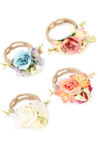 S4-4-1-AHDB1711MIX ASSORTED TULIP CUFF BRACELET/6PCS