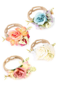 S4-5-2-AHDB1714MIX ASSORTED LILY CUFF BRACELET/6PCS
