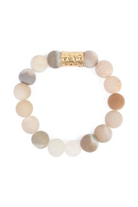 S7-6-2-AHDB1862BD PEACH MULTI NATURAL STONE BRACELET/6PCS