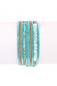 S7-5-2-AHDB1923BL BLUE MULTILAYER BRACELET/6PCS