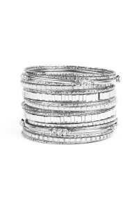S5-4-2-AHDB1942BS BURNISH SILVER MULTI LINE BRACELET/6PCS