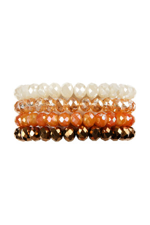 98917abcd8be Quick View this Product S7-4-1-AHDB2259BR BROWN FOUR LINE CRYSTAL BEADS  STRETCH BRACELET 6PCS
