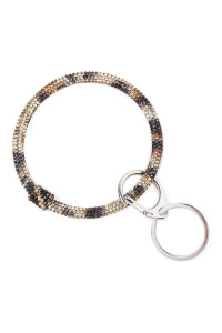 S4-4-1-AHDB2509BBR BLACK BROWN RHINESTONES KEY RING/6PCS