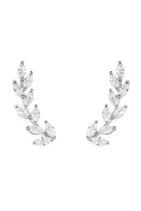 SA4-3-3-AHDE1720R RHODIUM DANITY VINE CRAWLER EARRINGS/6PAIRS