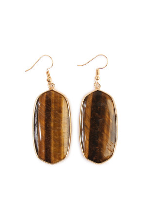 S6-5-4-AHDE1815BR BRONW STONE DROP EARRING/6PAIRS