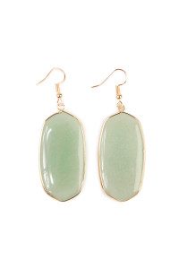 S7-6-4-AHDE1815GR GREEN STONE DROP EARRING/6PAIRS