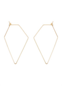 S6-4-1-AHDE1852G GOLD POLYGON BRASS EARRING/6PAIRS