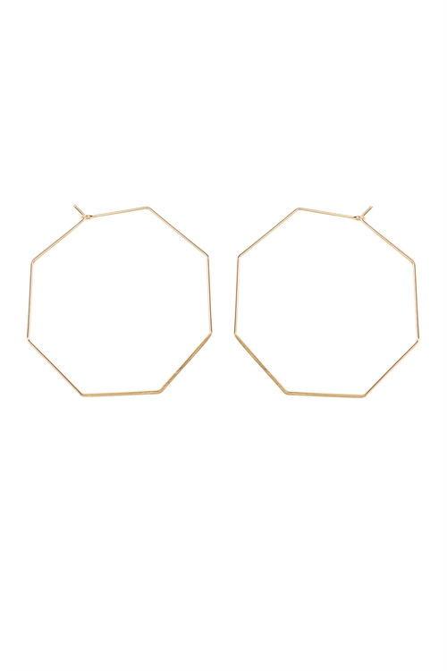 S7-6-2-AHDE1853G GOLD OCTAGON BRASS EARRING/6PAIRS