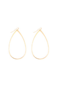 S7-6-3-AHDE1868MG MATTE GOLD TEARDROP EARRING/6PCS
