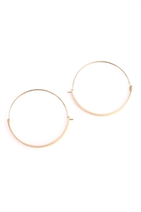 S5-6-4-AHDE2065G GOLD BAR HINGE HOOP EARRINGS/6PAIRS