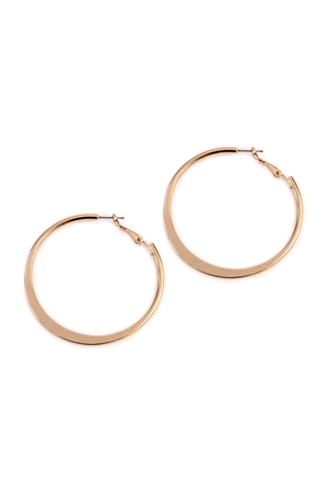 S5-5-2-AHDE2067G GOLD HAMMERED HOOP EARRINGS/6PAIRS