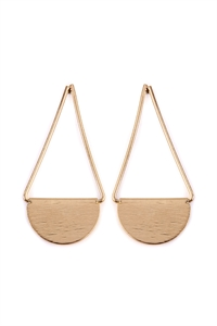 S5-5-2-AHDE2069G GOLD DROP SWING EARRINGS/6PAIRS