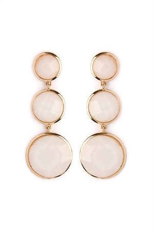 S4-6-2-AHDE2082CRY WHITE ROUND GEM CUT EARRING/6PAIRS