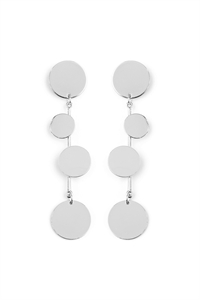 S5-4-3-AHDE2156R SILVER DANGLING DISCS EARRING/6PAIRS
