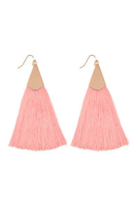 S5-5-3-AHDE2228DPK DUSTY PINK TASSEL EARRINGS EARRINGS/6PAIRS