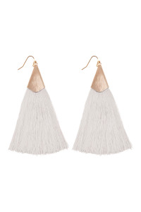 S6-5-2-AHDE2228IV IVORY TASSEL EARRINGS EARRINGS/6PAIRS