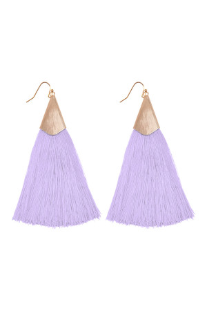 S6-5-2-AHDE2228LPU LIGHT PURPLE OVERSIZED TASSEL EARRINGS EARRINGS/6PAIRS