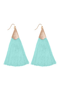 S6-5-2-AHDE2228MN MINT TASSEL EARRINGS EARRINGS/6PAIRS