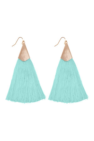 S6-5-2-AHDE2228MN MINT OVERSIZED TASSEL EARRINGS EARRINGS/6PAIRS