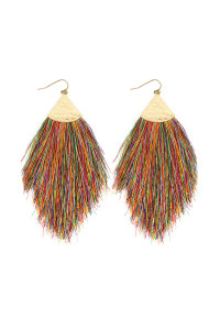 SA4-1-2-AHDE2232DMT DARK MULTI TASSEL DROP EARRINGS/6PAIRS