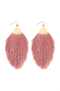 S7-5-2-AHDE2232DPK DUSTY PINK OVERSIZED TASSEL DROP EARRINGS/6PAIRS
