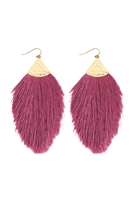 SA3-3-3-AHDE2232DPU DUSTY PURPLE TASSEL DROP EARRING/6PAIRS